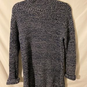 Long Style Navy Sweater